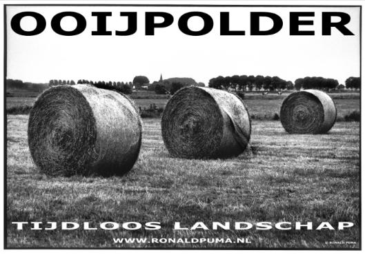 Ooijpolder (poster) Info: www.ronaldpuma.nl