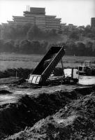 Dijkverzwaring bij Nijmegen jaren 1990.
