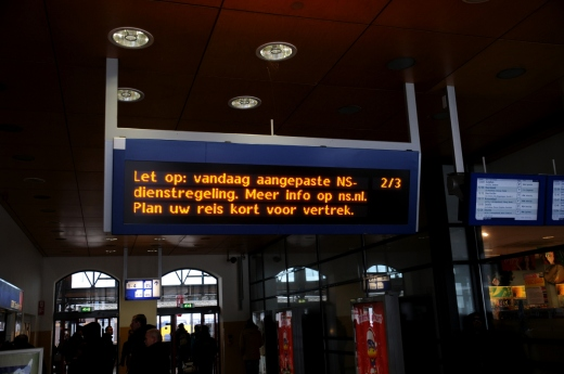 De NS heeft direct problemen