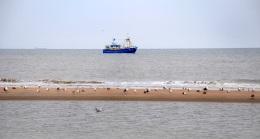 Een vissersschip op de Noordzee.