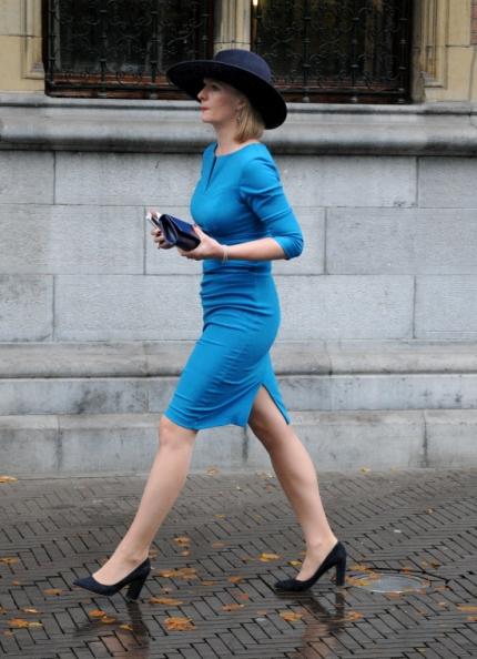 La femme en bleu.