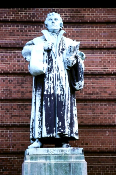 Martin Luther statue.