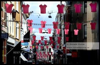 Roze T-shirts.
