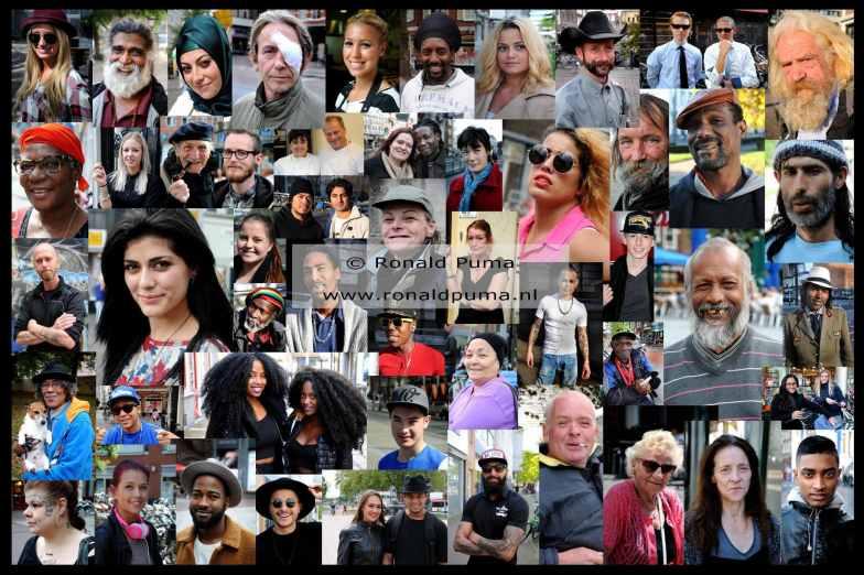 Portretten uit de multiculturele samenleving van 2010 tot heden.