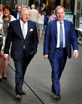 Voormalig voorzitter van de Nederlandse ondernemers Wientjes (r). © Ronald Puma