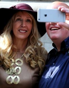 Op de foto met Groen Links parlementariër Liesbeth van Tongeren. © Ronald Puma