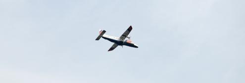 Vliegtuig van de kustwacht.