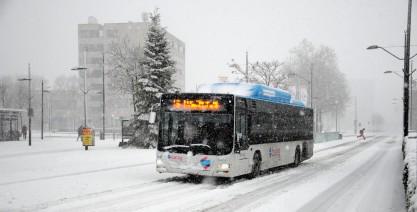 De bussen reden aan het begin van de middag nog.