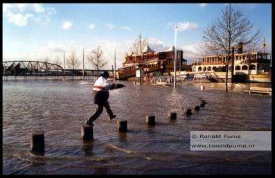 Archieffoto hoogwater 2002.