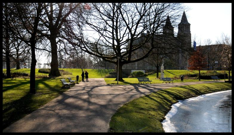 A sunny winters day in the park