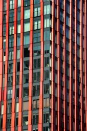 Het hoogste gebouw van Rotterdam. Woontoren The Red Apple.