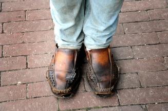 Zijn schoenen.