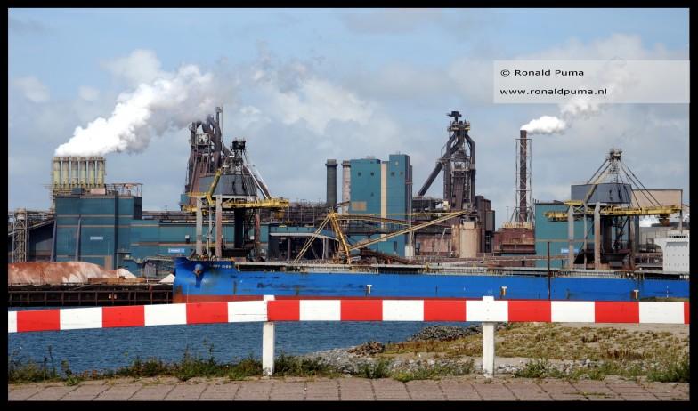 Tata Steel hoogovens staalfabriek Velsen.