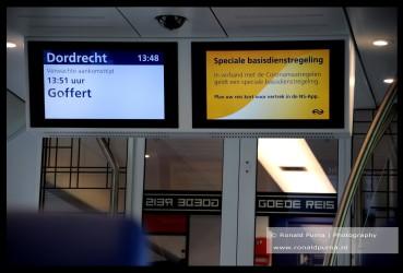Informatie in trein.