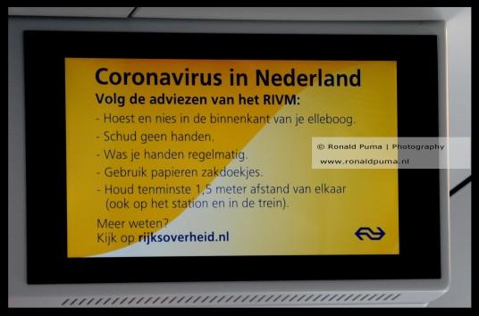 Informatie in de trein.