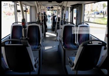 Lege stadsbus. De dienstregeling is beperkt.