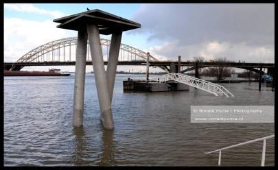 Hoog water Waal Nijmegen 03.03.2020 (C) Eonald Puma