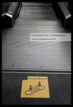 Station Arnhem met nieuwe markeringen.
