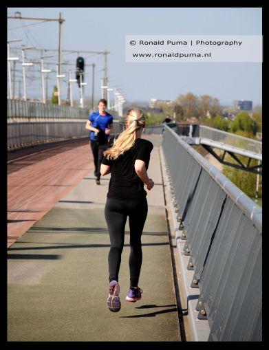 Veel joggers.