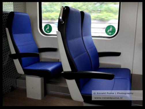 Afstandhouden in de de trein.