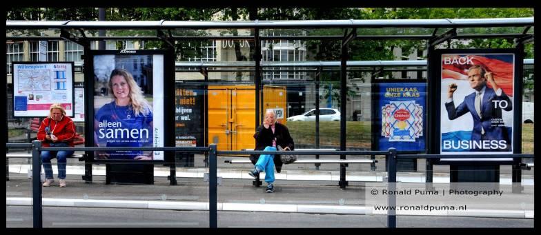 Leeg busstation.