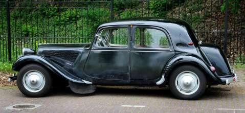 Citroën Traction Avant uit 1952.