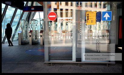 Looproute station Arnhem.